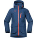 Bergans Youth Folven Jacket Dark Steel Blue/Koi Orange